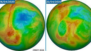 Bisher größtes Ozonloch über der Arktis schließt sich