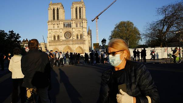 APTOPIX Virus Outbreak France Notre Dame