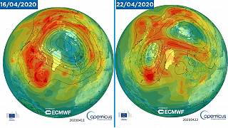 "Ozone ""hole"" in April 16 and April 22"
