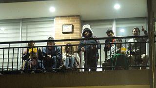 Cine desde los balcones en Bogotá