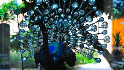 Gopal Namajoshi makes sculptures from recycled metal.