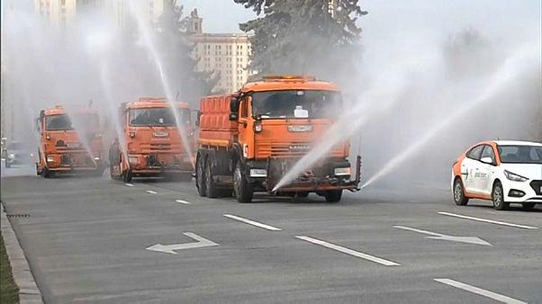 В Москве провели масштабную дезинфекцию
