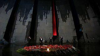 Commémoration du 105ème anniversaire du génocide des Arméniens - Erevan Arménie, le 23 avril 2020