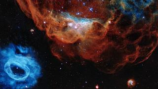 Hubble released this image of two nebulas for its 30th birthday
