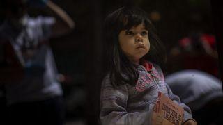 Una niña en Barcelona
