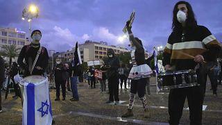 Kundgebung mit Abstand: Protest gegen Netanjahu
