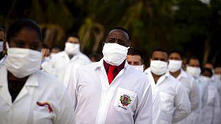 Kubai egészségügyi csapat, orvosok és ápolók kiküldetés előtt