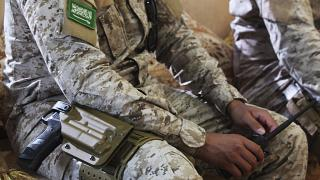 صورة لجندي سعودي في المكلا اليمينة، نوفمبر 2018