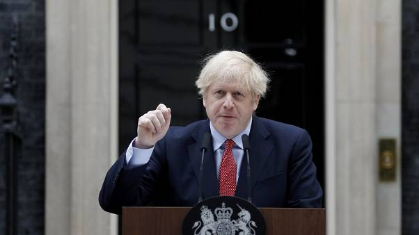 Boris Johnson spoke outside Downing Street on Monday in his first speech since recovering from COVID-19