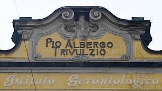 Pio Albergo Trivulzio retirement home in Milan (Photo by MIGUEL MEDINA / AFP)