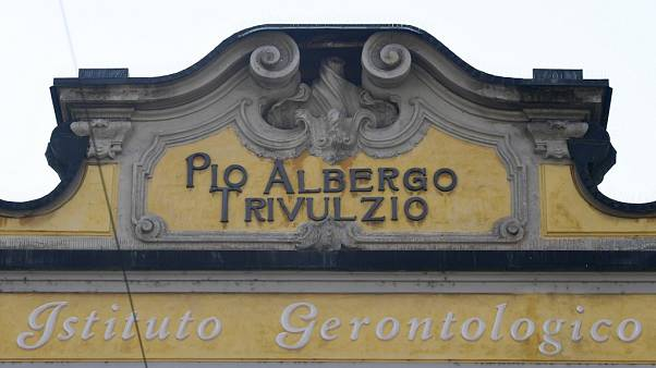 Pio Albergo Trivulzio retirement home in Milan (Photo by MIGUEL MEDINA / AFP)