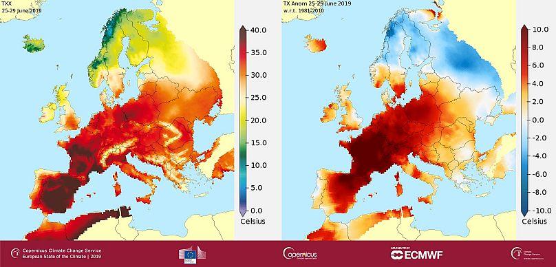 Source des données : E-OBS, Crédit : C3S/KNMI