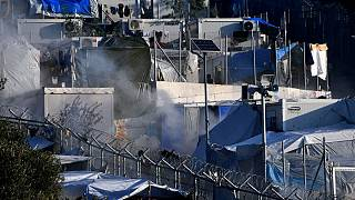 آتشسوزی در اردوگاه پناهجویان یونان۲۰۰ نفر را بی سرپناه کرد