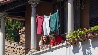 Virus Outbreak Italy Liberation Day