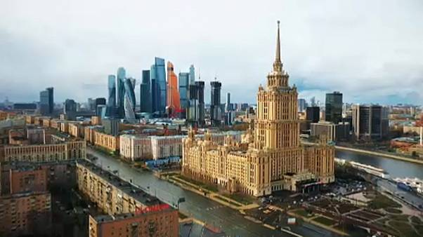 ویدئویی از بناها و خیابانهای مسکو در روزها و شبهای قرنطینه