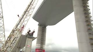 Genuas neue Brücke kurz vor der Fertigstellung