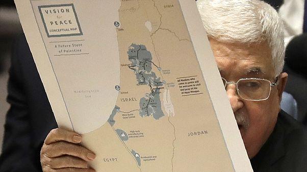 الرئيس الفلسطيني محمود عباس بتحدث خلال اجتماع لمجلس الأمن الدولي - 2020/02/11