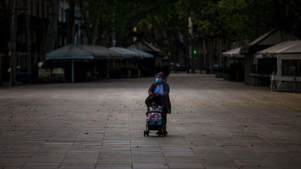 ساحات برشلونة الخالية