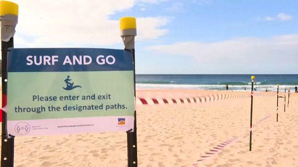 """""""Bondi beach"""" reaberta com muitas limitações devido à Covid"""