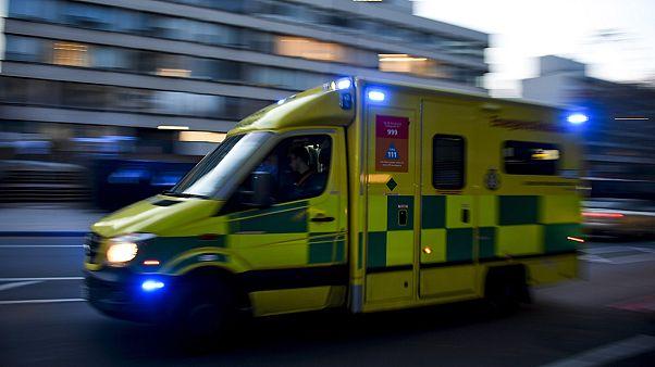 Una ambulancia en el centro de Londres