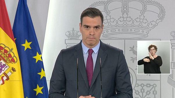 """Pedro Sánchez anuncia un plan """"gradual"""" y """"asimétrico"""" para la desescalada del confinamiento"""