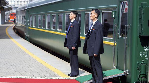 Kim Dzsongun vonata Vlagyivosztokban, Oroszország, 2019