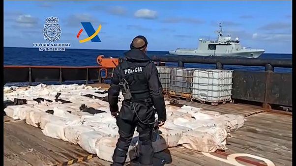 Vier Tonnen Kokain vor Galicien beschlagnahmt