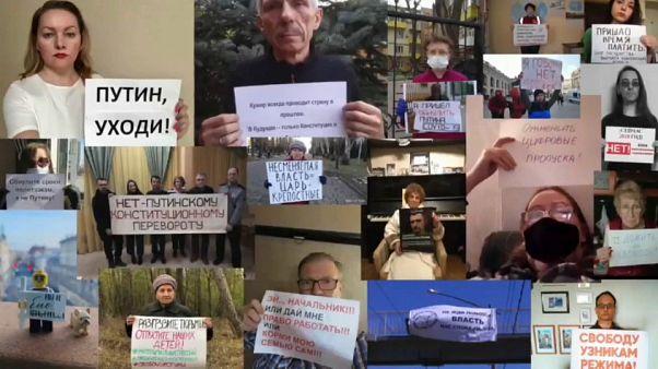 Oposição a Putin faz protesto digital