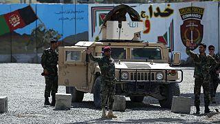 Afgan Özel Kuvvetleri intihar saldırısının yaşandığı bölgede