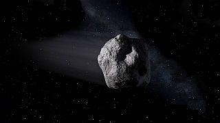 Recreación artística de un objeto cercano a la Tierra