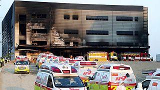 Güney Kore'de şantiyede yangın: En az 38 ölü