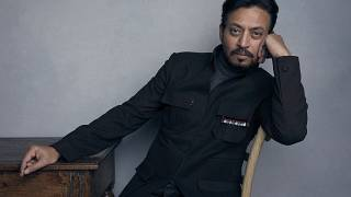 """Irrfan Khan poses for a portrait to promote the film """"Puzzle"""" during the Sundance Film Festival in Park City, Utah"""