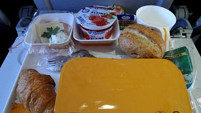 Plane food handed out to disadvantaged people in the UK