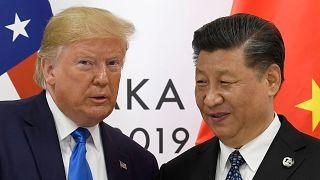 ABD Başkanı Donald Trump ile Çin Devlet Başkanı Şi Cinping