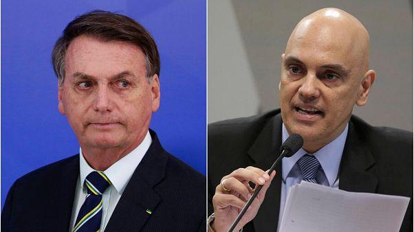 Brezilya Devlet Başkanı Jair Bolsonaro ve STF Başkanı Yargıç Alexandre de Moraes