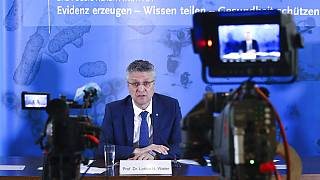 Lothar H. Wieler, president of the Robert-Koch-Institute, addresses the media on the current status of the spread of the new coronavirus, Berlin, Germany, April 30 2020