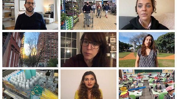 Esteban, desde Alemania, Gael desde Reino Unido, Ana desde EEUU, Andrea desde Argentina y Laura desde Hong Kong nos cuentan cómo pasan la cuarentena