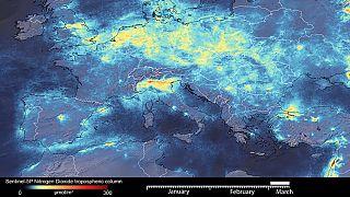 Contaminación reducida en Europa en marzo