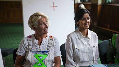Emma Thompson and Rakhee Thakrar (Sex Education) in 'Extinction'