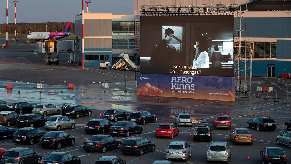 Coronavirus Vilnius Turns Its Airport Into A Drive In Cinema Euronews
