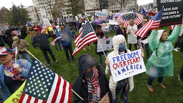 Акция протеста в Мичигане.