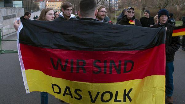 عکس آرشیوی از تظاهراتی در آلمان