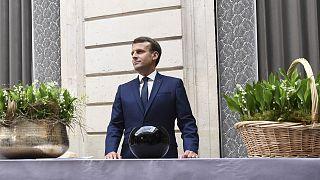 Le président français Emmanuel Macron, à l'Elysée le 1er mai 2020