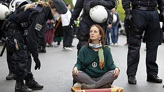 Friedlicher (aber illegaler) Mai-Protest in Berlin, 1. Mai 2020.
