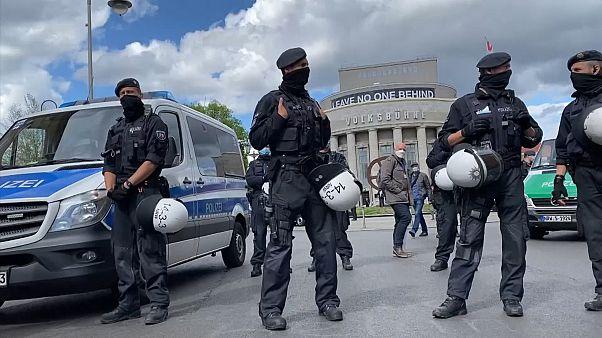 Ancora proteste a Berlino contro le misure anti Covid 19