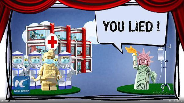 Az Egyesült Államokat cikizi Kína a vírus miatt egy Lego-videóval