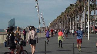 En Espagne, enfin la balade ou le jogging
