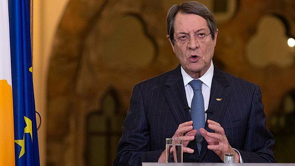 President Nicos Anastasiades explaining Cyprus' lockdown exit strategy. April 29, 2020, Nicosia