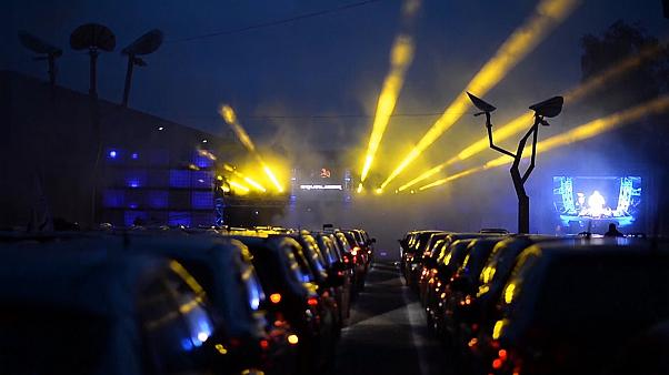 German party-goers dance the night away under lockdown thanks to 'car-disco'