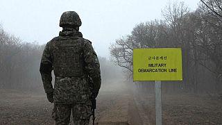 Lövöldözés volt a két Korea határán